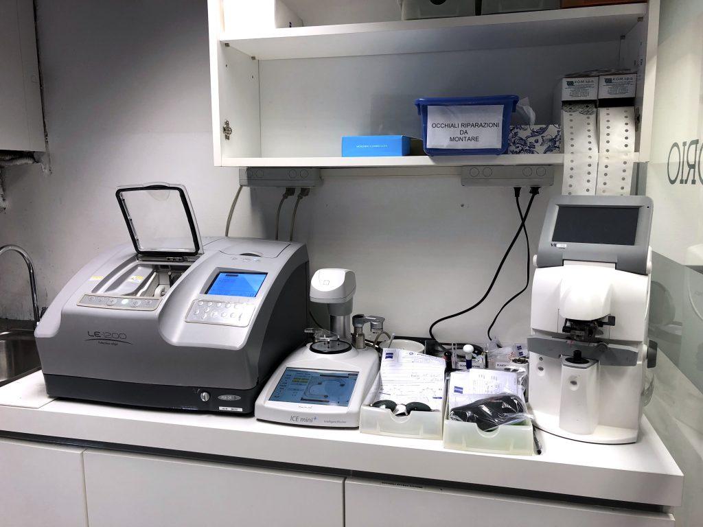 laboratorio montaggi ottica occhiali mola computerizzata